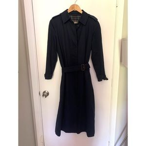 Burberry Navy Blue Trench Coat